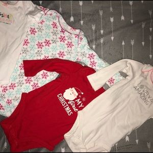 4 9month onesies by Carter